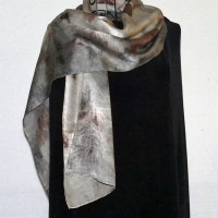 Ecoprinted-silk-scarf