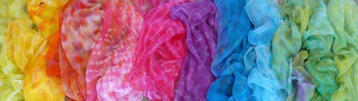 Rainbow Scarves from Rasa