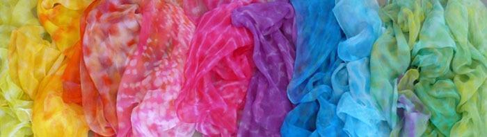 Rainbow Scarves from Rasa